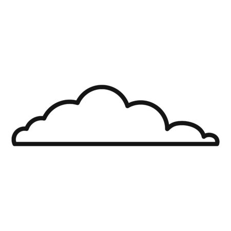 Sky cloud icon, outline style Иллюстрация