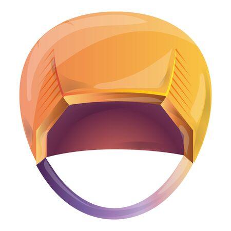 Ski helmet icon. Cartoon of ski helmet vector icon for web design isolated on white background Иллюстрация