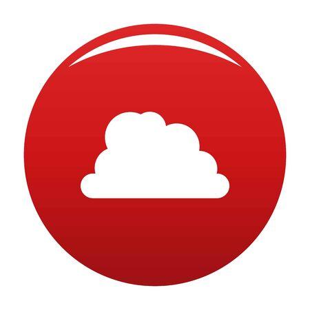 Mountainous cloud icon. Simple illustration of mountainous cloud icon for any design red Stock Photo