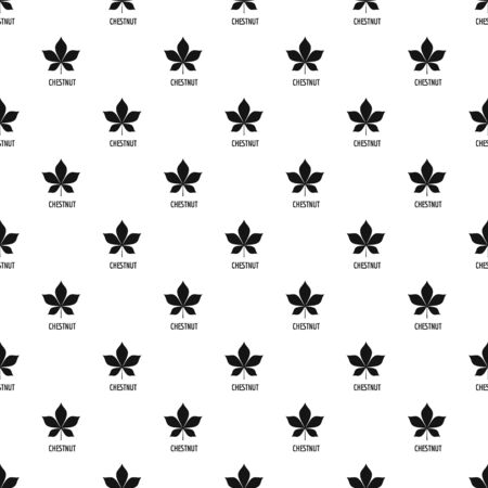 Chestnut leaf pattern seamless repeat geometric for any web design