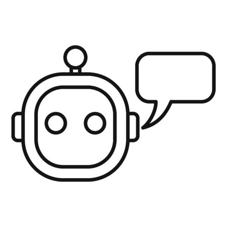 Smart chatbot icon, outline style