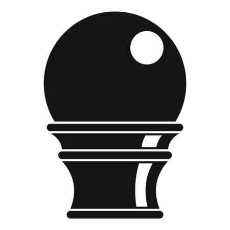 Magic glass ball icon, simple style