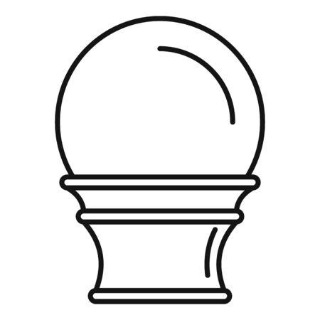 Magic glass ball icon, outline style Фото со стока