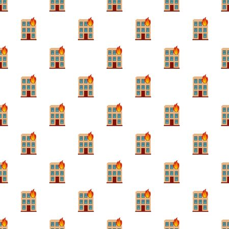 Burning house pattern seamless