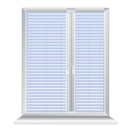 Window jalousie icon. Cartoon of window jalousie vector icon for web design isolated on white background