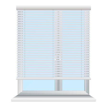 Metal window jalousie icon. Cartoon of metal window jalousie vector icon for web design isolated on white background 일러스트