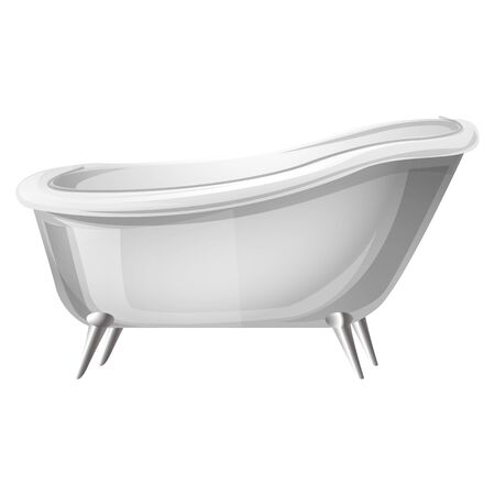 Retro bathtub icon. Cartoon of retro bathtub vector icon for web design isolated on white background 일러스트