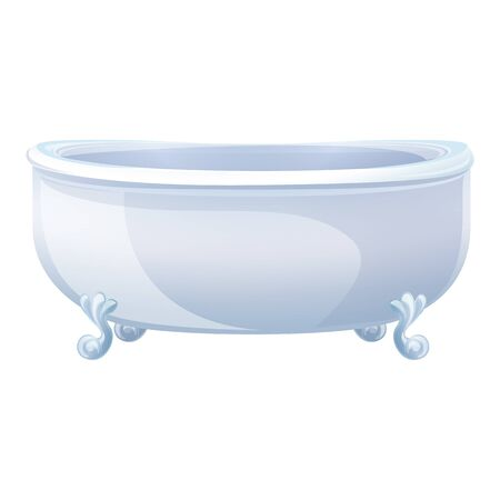Ceramic bathtub icon. Cartoon of ceramic bathtub vector icon for web design isolated on white background