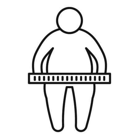 Overweight measurement icon, outline style Vector Illustration