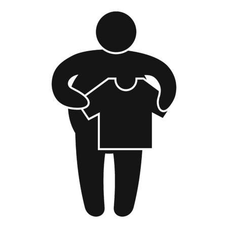 Small size clothes icon. Simple illustration of small size clothes vector icon for web design isolated on white background
