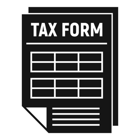Tax form icon. Simple illustration of tax form vector icon for web design isolated on white background