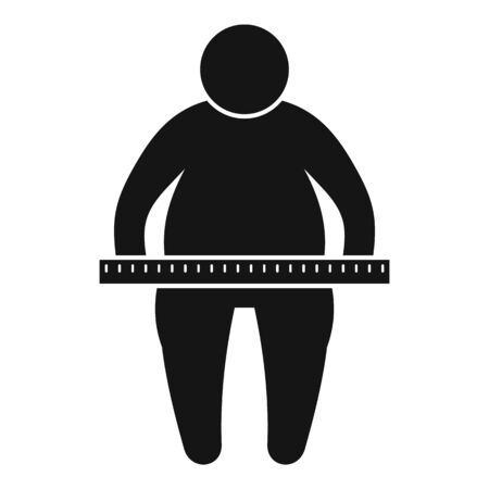 Overweight measurement icon. Simple illustration of overweight measurement vector icon for web design isolated on white background