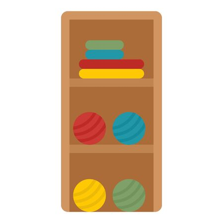 Atelier sewing rack icon. Flat illustration of atelier sewing rack vector icon for web design Illustration