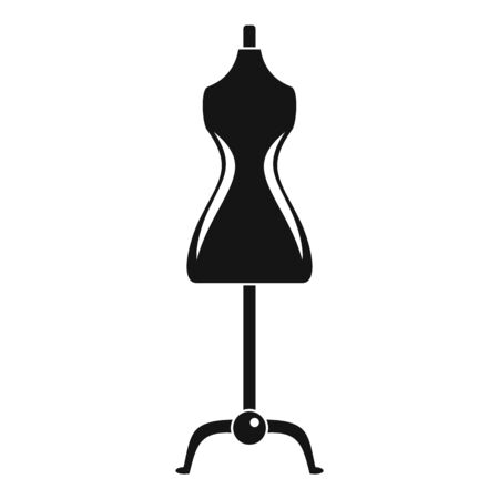 Sewing mannequin icon. Simple illustration of sewing mannequin vector icon for web design isolated on white background