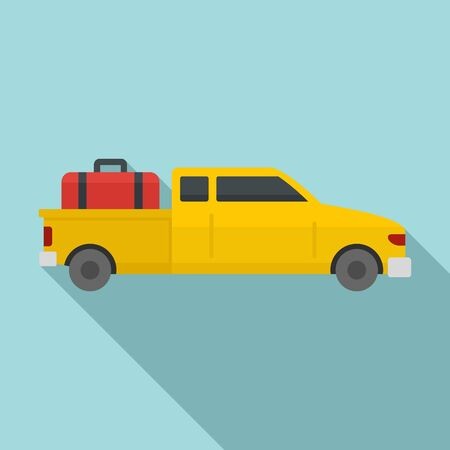 Long travel car icon. Flat illustration of long travel car vector icon for web design