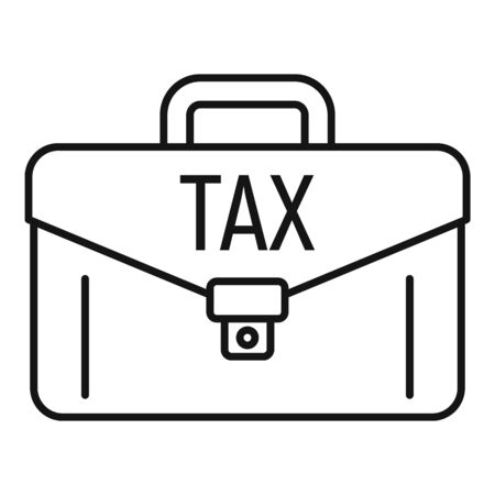Tax leather case icon, outline style Ilustração