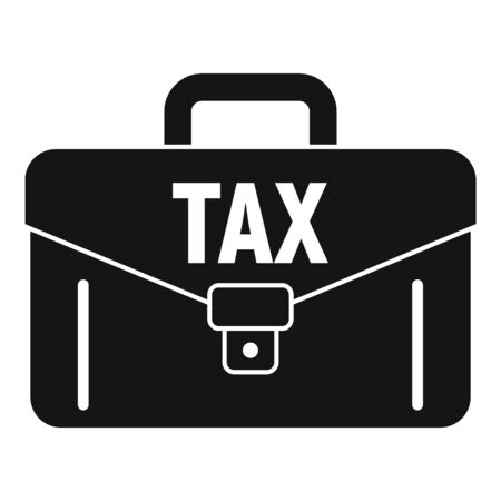 Tax leather case icon, simple style