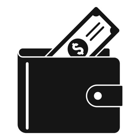 Full money wallet icon, simple style