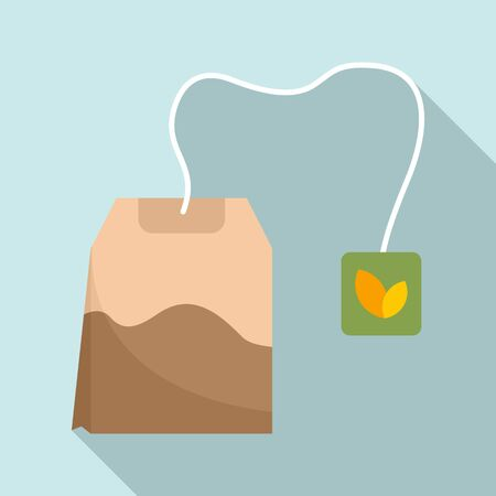 Tea bag icon. Flat illustration of tea bag vector icon for web design Imagens - 133302449