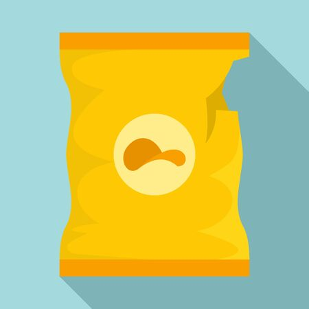 Empty chips package icon. Flat illustration of empty chips package vector icon for web design 向量圖像