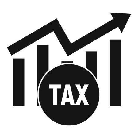 Tax finance graph icon. Simple illustration of tax finance graph vector icon for web design isolated on white background