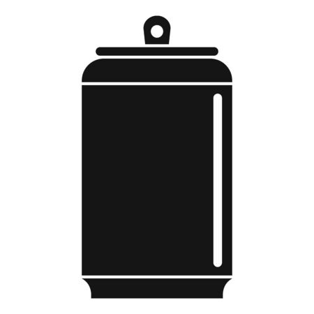 Empty tin can icon, simple style