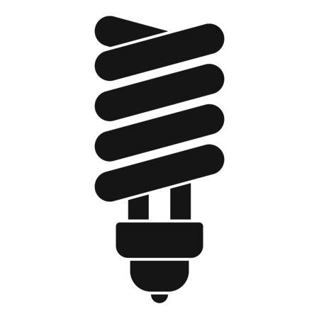 Broken eco bulb icon, simple style Standard-Bild - 133433553