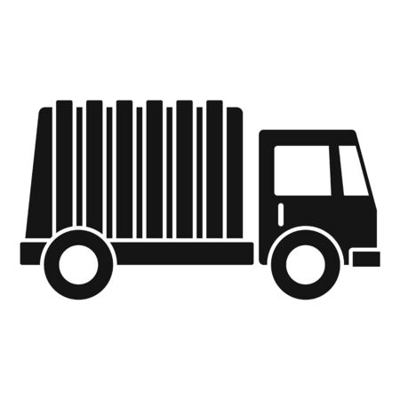 Garbage city truck icon, simple style Stok Fotoğraf - 133433559