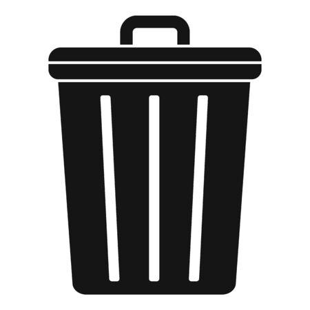 Steel recycle bin icon, simple style Stock fotó - 133433646