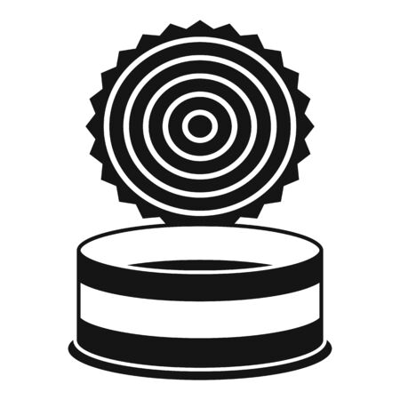 Open tin can icon, simple style Ilustrace