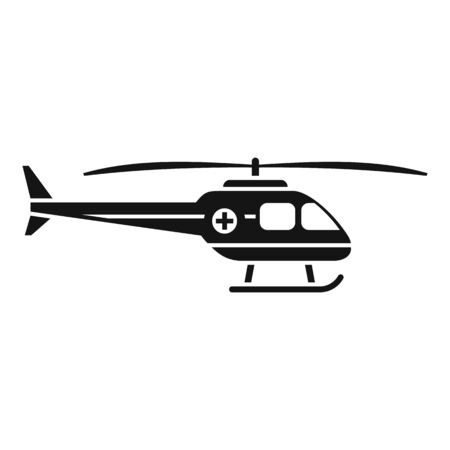 Rescue helicopter icon, simple style