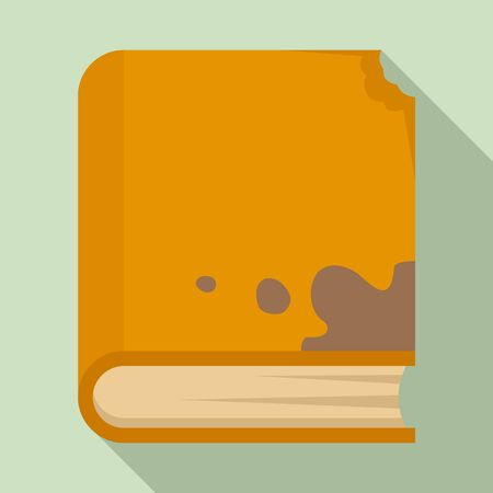 Garbage book icon, flat style