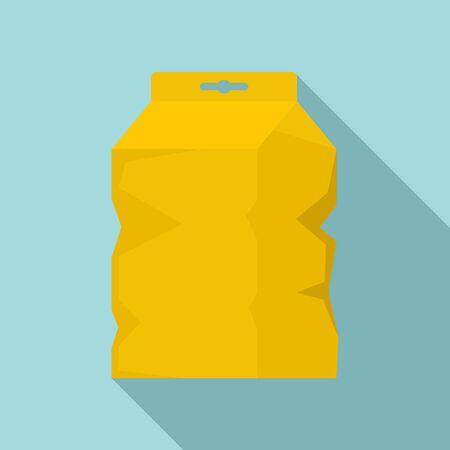 Garbage package icon, flat style