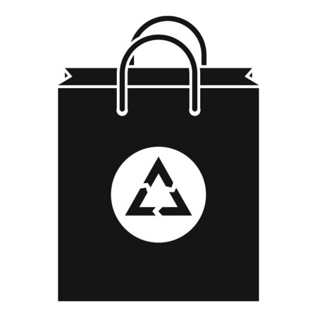 Eco bag icon, simple style