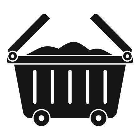 Garbage city cart icon, simple style