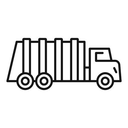 Garbage city truck icon, outline style Stok Fotoğraf - 133433950
