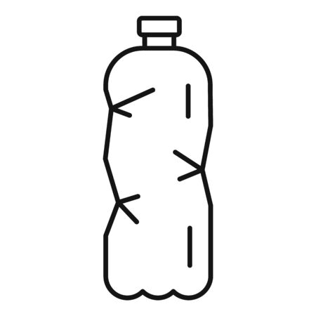 Plastic bottle icon, outline style