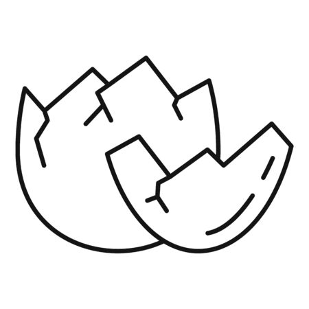Eggshell icon, outline style