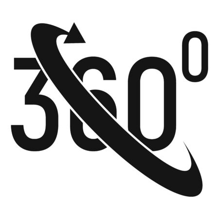 Augmented reality icon, simple style Illustration