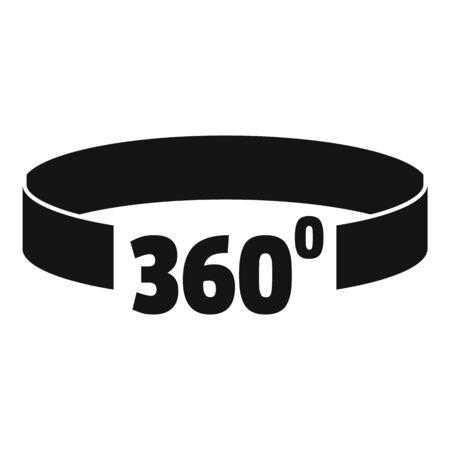 Virtual 360 degrees icon, simple style Illustration