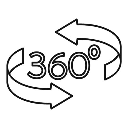 Augmented reality icon, outline style