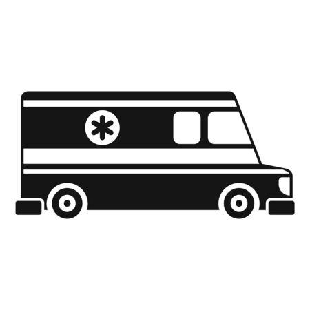 Ambulance vehicle icon, simple style