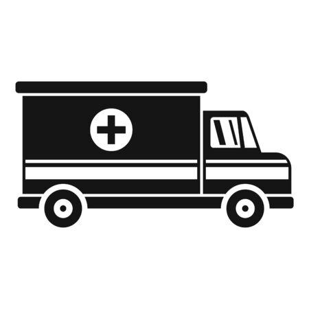 Ambulance van icon, simple style