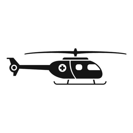 Ambulance helicopter icon, simple style Stok Fotoğraf - 133464509