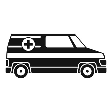 Paramedic ambulance icon, simple style Stok Fotoğraf - 133464515