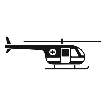 Sky ambulance helicopter icon, simple style Banque d'images - 133464847