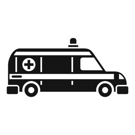 Ambulance help team icon, simple style Illusztráció