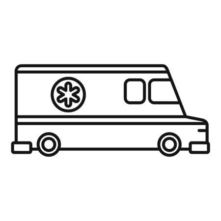 Ambulance vehicle icon, outline style