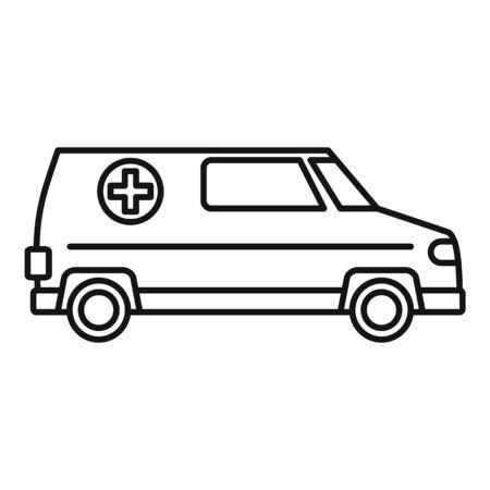 Paramedic ambulance icon, outline style