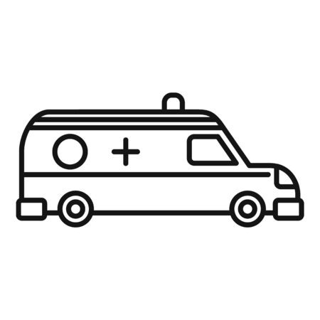 Ambulance help team icon, outline style